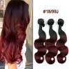 Natural Dark Black Root Two Tone Black/Red Ombre Body Wave 3pcs Weave Bundles Brazilian Human Virgin Remy Hair Weft Extension 99 100 natural piper methysticumkava root