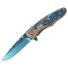 Ао Shengda дамасской стали нож на открытом воздухе портативный складной нож для выживания самозащиты пустыне нож Damascus ножа дракона
