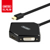 (UNITEK) Mini DP to VGA / HDMI / DVI трехконтактный конвертер Mini Displayport адаптер Яблочный соединительный кабель Y-6353BK 3 in 1 mini dp displayport thunderbolt to hdmi dvi vga adapter for macbook