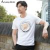 Аши Дейтон мужской случайное лето круглая шея печатной короткие рукава футболка серые акулы 170 / M A2110073