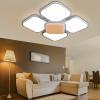 (NVC) Потолочный светильник Лампа для гостиной Светильник для спальни Ламповый светильник Может быть разделен на креативный цветочным узором квадратный трехцветный регулируемый (68W3000K + 6500K)