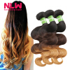 Buy Bulk China Full 8A Best Quality Colored Ombre Peruvian Body Wave Virgin Human Hair Blonde Extension 3 Bundles NLW Hair Wefts