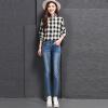 VIVAHEART Корейский случайный штаны для вышивки штаны Тонкие стрейч-карандаш-джинсы женские VWKN172243 синий 27