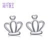 Джейн Дэн JIANDAN S925 серебряных серьги Япония и Южная Корея ювелирных изделий из серебра простых простые серебряных серег женщины короны