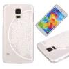 Цветок полукруга Pattern Мягкая тонкая резиновая оболочка из силиконового геля TPU для SAMSUNG Galaxy S5