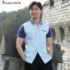 Мужская рубашка Aston Summer Splicing Рубашка с коротким рукавом для бизнеса Sky Blue 175 / L A15217517