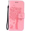Pink Tree Design PU кожа флип крышку кошелек карты держатель чехол для SAMSUNG S7