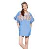 Basic House 100 хорошая корейская версия летнего национального стиля вышивка печати юбка женщин назад молния платье HQOP321K синий S