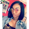 SF Short Lace Front Bob Wigs For Black Women 9A Pre Plucked Unprocessed Virgin Human Hair Brazilian Wig With Baby Hair tsnomore black to blue synthetic lace front bob wig