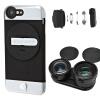 Лучший ритм музыка Ztylus Z-Prime кИ высокой четкость Apple, телефоны универсальных iphone и 6 ультра широкоугольного комплекта телеобъектива черных