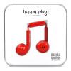 Happy Plugs Earbud Plus Наушники Наушники Наушники Apple Наушники Apple Наушники Улучшения Скандинавский дизайн Швеция Свет Приливы Красный наушники
