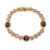 Yoursfs @ Золото Покрытие Красный Rhinestone Кристалл Браслеты для женщин Розовое золото Цвет Charms День матери Браслеты Мода ювелирные изделия