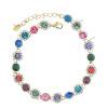 Yoursfs@ Bracelets&Bangles CZ Diamonds Bracelet Rhinestones Handmade Statement Female Bracelet Vintage Crystal Bangles
