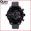 OULM 3130 Men Quartz Military Fashion Unique Watch Dual Display Quartz Wrist Watch Outdoor Military Sports Watches oulm men s quartz military wrist watch with dual movt compass