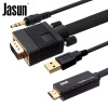 (JASUN) HDMI к VGA конвертер с AUX кабель для монитора jasun hdmi к vga конвертер с aux кабель для монитора