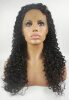 Frontal Lace wig Glueless Brazilian Virgin Human Hair with baby hair Black Women Curly loose curly silk top glueless full lace wigs virgin brazilian curly human hair silk top wig with baby hair for black women