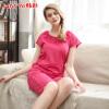 Jingdong [супермаркет] Корейский Choi (HACAI) модальная пижама женщина 2017 лето новый с короткими рукавами круглых пуловеры шеи сплошного цвета женского дома пакет услуги Rose 165/90 (L)