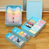 Ou Runzhe storage box home wardrobe PP underwear box drawer-style socks small items multi-grid classificati free shipping wooden tool box desk storage drawer debris cosmetic storage box bin jewelry case office creative gift home