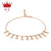 Джейн Ai (zhenai) J7100E K ножные женское трехцветное золотой браслет 18k золото розового золота сандалеты