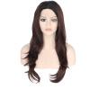 Anogol Handmade естественной волна фронт шнурок парик темно-коричневый Синтетические жаростойкие парики для женщин парик роза цвет темно коричневый