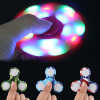 1PC LED Flash Camooflage Fidget Spinner Три Spinner EDC Стресс ADHD Ослабляющая игрушка tri fidget hand spinner triangle metal finger focus toy adhd autism kids adult toys finger spinner toys gags