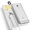 все цены на Высокое качество ТПУ чехол для Meizu Pro 6s Мягкий Anti-shock Super Clear TPU Case + Закаленная пленка + USB Зарядный кабель онлайн