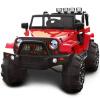 Смех ребенка Jeep Wrangler Детский электромобиль может сидеть четыре человека внедорожник Red БДМ-0905