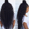 Brazilian Hair Kinky Curly Full Lace Wigs With Baby Hair heat resistant brazilian curly wigs with