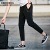 Мужская одежда Bosideng (BOSIDENGMAN) мужская тонкая часть досуга девять штанов весенние и летние модели Тонкие брюки 3272B63081 черный XXL
