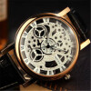 YAZOLE 2016 Skeleton Watch Men Top Brand Luxury Famous Gold Male Clock Quartz Watch Wrist For Men Quartz-Watch relogio masculino chenxi wristwatches gold watch men watches top brand luxury famous male clock golden steel wrist quartz watch relogio masculino
