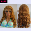 N.L.W. Brazilian virgin human hair full lace wigs Dark blonde Body wave Glueless 130 density body wave glueless full lace human hair wigs brazilian virgin hair free part for black women