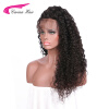 180% Density Curly Lace Front Human Hair Wigs For Black Women Pre Plucked Brazilian Remy Hair Bleached Knots spring 400