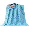 Подобно ребенку (elepbaby) детское банное полотенце хлопковое марлевое жаккардовое большое полотенце 140X70CM (точечный клевер синий)