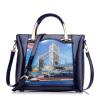 REALER бренд модная женская сумка 2016 года , дамская сумка из PU кожи с винтажным принтом новинка женская винтажная сумка дамская сумка из pu кожи женская сумка мессенджер