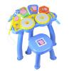 развивающие игрушки Beifen музыка buddyfun детские музыкальные инструменты барабаны свинья Paige Paige электронный барабан 99025A синий buddyfun k063807 наушники детские музыкальные детские игрушки наушники гарнитуры