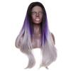 лакричный мармелад haribo matador mix dark 270 гр Anogol 3 тоны Gray Mix Фиолетовый Ombre Dark Roots Длинные волнистые волосы парики Синтетические парик фронта шнурка