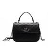 Naberu прохладный NB сумка сумка женская сумка Корейский Messenger мешок моды Lingge пакет N1015 черный