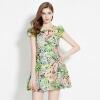 Йи Ксианг Ли Аинг летом новый раунд шеи Плиссированные платье Puff искусственных цветов M 150 535 147 купить вазы пластик для искусственных цветов