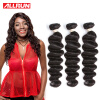 Allrun Brazilian Virgin Hair Loose Wave 3 Bundles Brazilian Loose Wave Hair Weaving 100% Human Hair Weave 100g Per Bundle unifos brazilian virgin hair jet black 1 loose human hair 1pcs 100