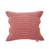 Подушка подушки безопасности подушки Jiabao талии вымотала хлопчатобумажную ткань, журналы можно мыть и мыть красные полосы вина (45 * 45 см) журналы