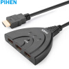 PIHEN PH-QHQ001 HDMI Cutter HDMI-коммутатор KVM-переключатель Три-в-одном Splitter Video Cutter Support 1080P Black hdmi коммутатор kramer vs 311hdmi