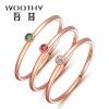 Wu Xi (WOOTHY) 18K золотое кольцо женщина красный турмалин кольцо K золото маленький хвост кольцо Nvjie подружки с деньгами кольцо алмаз холдинг женское золотое кольцо с куб циркониями alm1200203515л 18 5