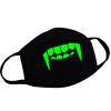 MyMei Мужская черная маска для рта Светло-серебристая светящаяся пыль Teehth Fangs Mask Hot