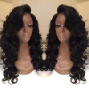Fashion indian remy human hair body wave full lace wigs 130% density with baby hair 20 1 high light 4 kinky curl 100% indian human hair 130% density lace front wig custom order