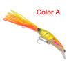 1pc дизайн Squid 7 -14cm / 1.566oz-40g рыболовные приманки 6 Цвета рыбацкая приманка 1/0 # Крючок для рыбалки корм для шиншилл 400г