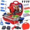 Мама и папа (babamama) наборы инструментов набор инструментов ребенка играть дома инструмент игрушки для детей 19 красный костюм 7611
