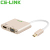 CE-LINK Mini DP to VGA / HDMI 2-в-1 конвертер 4K Mini DisplayPort Adapter 4K * 2K Macbook TV Projector 1520 2 in 1 mini displayport dp thunderbolt to hdmi vga adapter connector cable line wire for apple for macbook air pro surface pro 3