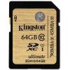 Кингстон (Kingston) 64GB 90MB / с Class10 SD UHS-I высокоскоростной карты памяти роскошь золота
