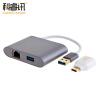 CABLE CREATION USB3.0 to Gigabit Ethernet +3 порт HUB концентратор / сплиттер USB3.0 в RJ45 с адаптером Type-c to USB3.0 CD0139 jzyuan usb c type c 3 1 hub to hdmi mini dp 3 5mm audio rj45 gigabit ethernet adapter with type c pd power sd tf card reader hub
