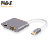 CABLE CREATION Mini DP to VGA / HDMI Combo Converter 4K × 2K Алюминиевый мини-адаптер DisplayPort Mac Video Projection CD0168 high quality thunderbolt mini displayport display port dp to hdmi adapter cable for apple mac macbook pro air